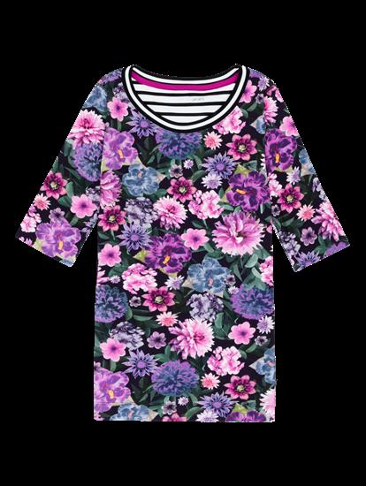 Image sur Shirt imprimé floral et rayures latérales