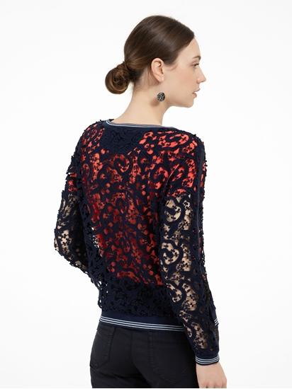Bild von Pullover aus Spitze mit Streifen