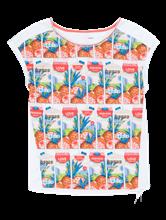 Bild von Shirt aus Material-Mix mit Print und Tunnelzug