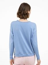 Image sur Shirt mélange de matières à nervures