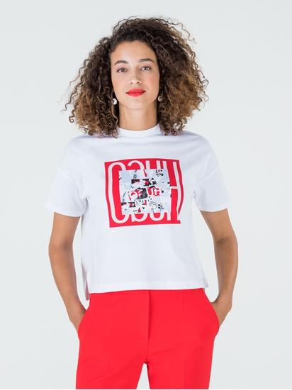 Image sur T-shirt oversized imprimé