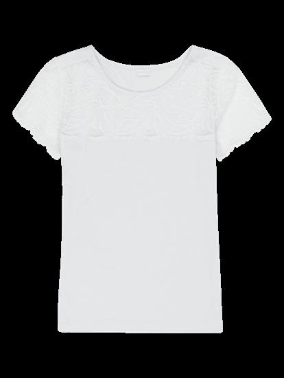 Bild von T-Shirt aus Flammgarn mit Spitze