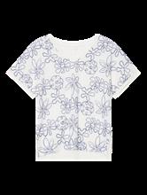 Bild von T-Shirt mit Blumenstickerei