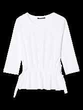Image sur Shirt mélange de matières et cordon de serrage