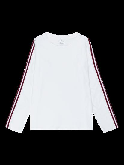 Bild von Shirt aus Flammgarn mit Streifen am Ärmel