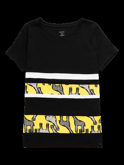 Image sur T-shirt avec motif