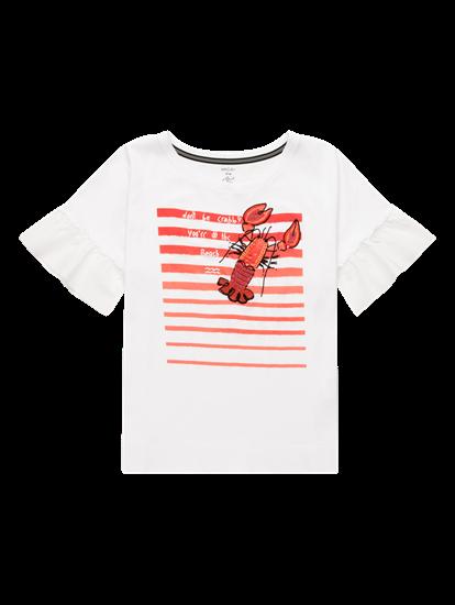 Bild von Shirt mit Print und Applikationen