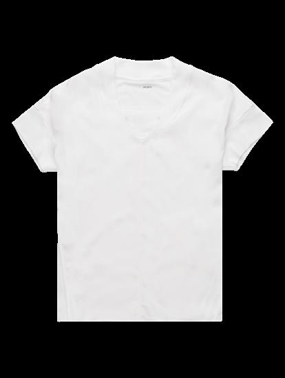 Image sur T-shirt oversized mélange de matières
