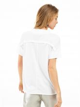 Bild von Oversized T-Shirt aus Material-Mix