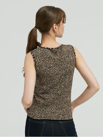 Image sur Top avec imprimé léopard