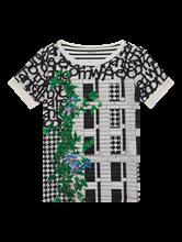 Bild von T-Shirt aus Material-Mix mit Print