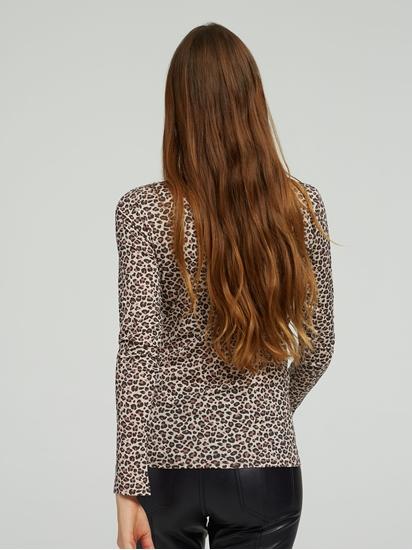 Image sur Shirt col boutonné et imprimé léopard