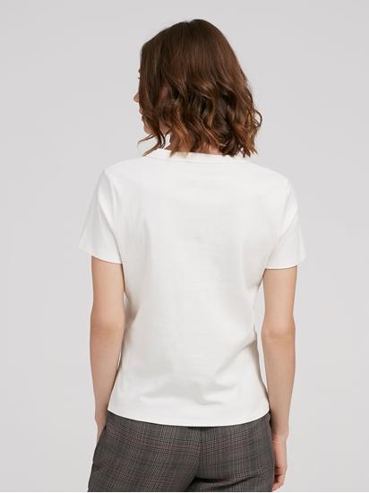 Bild von T-Shirt mit Print und Pailetten