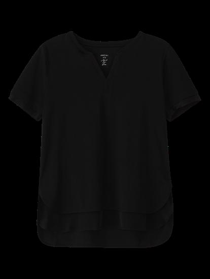 Image sur T-shirt mélange de matières