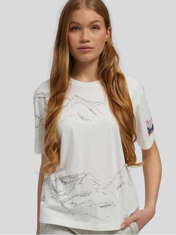 Bild von T-Shirt mit Bergen-Print