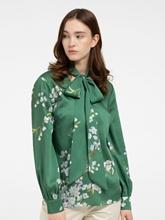 Bild von Bluse mit Blumen-Print und Schluppe