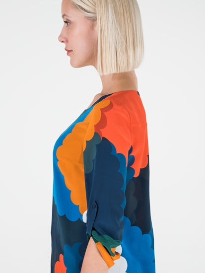 Image sur Blouse en soie imprimée