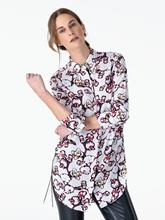 Image sur Blouse imprimé fleurs oversize