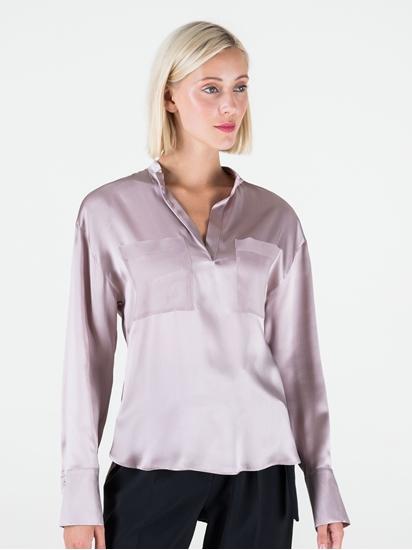 Bild von Bluse aus Seide mit Brusttaschen