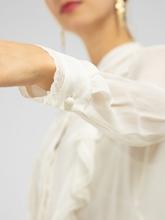 Bild von Bluse mit Rüschen und Spitze