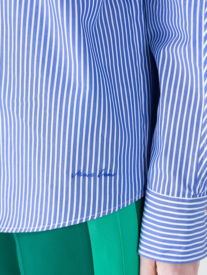 Image sur Blouse à rayures et poche poitrine