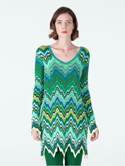 Bild von Kleid mit Zickzack-Muster