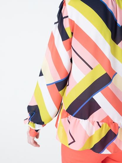 Image sur Blouse imprimée avec noeud