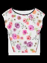 Bild von Blusenshirt aus Material-Mix mit Blumen-Print