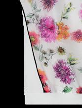 Image sur Blouse mélange de matières et imprimé de fleurs