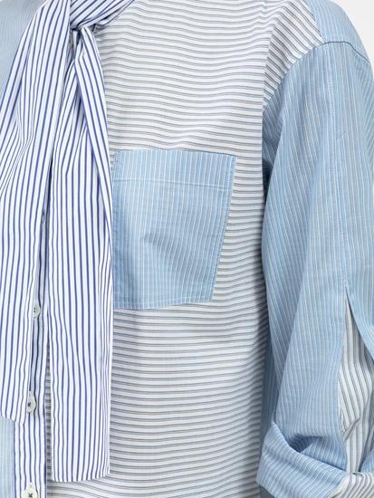 Bild von Bluse mit Streifen und Schluppe