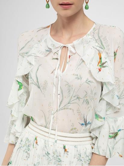 Bild von Bluse mit Print und Rüschen