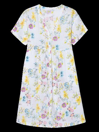 Image sur Robe en lin et imprimé floral