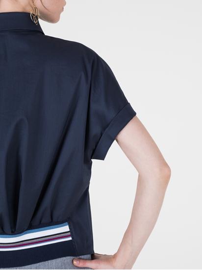 Bild von Bluse mit Strickeinsatz am Rücken