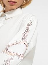 Bild von Bluse mit Kontrast-Nähten und Print