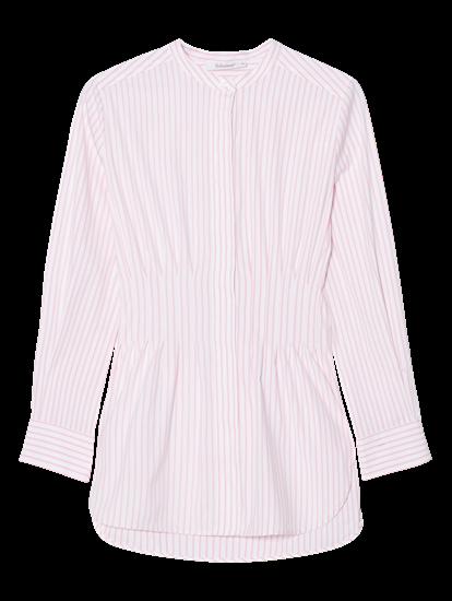 Bild von Bluse mit Streifen und Falten