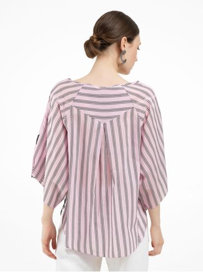 Bild von Oversized Blusenshirt mit Print und Streifen