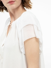 Bild von Oversized Blusenshirt mit Volants