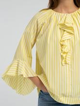 Bild von Blusenshirt mit Streifen und Volants