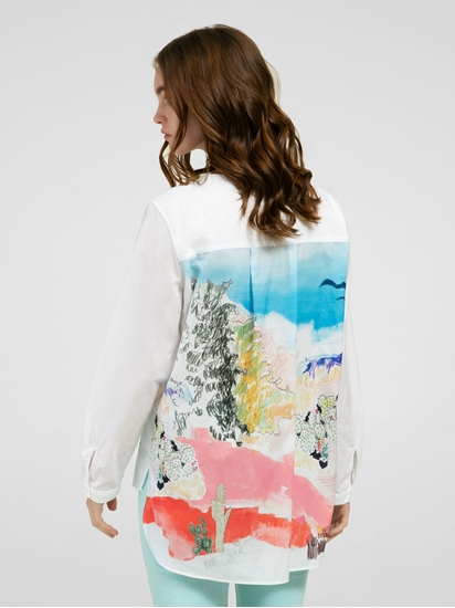 Bild von Bluse mit Rückenprint