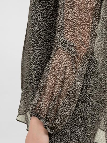 Image sur Blouse en soie et imprimé léopard