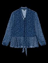 Image sur Blouse avec imprimé floral et noeud
