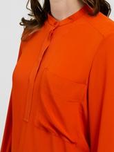 Bild von Bluse mit asymmetrischem Bundabschluss