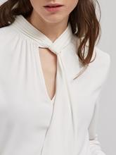 Image sur Blouse avec col ruban à glissière et passepoil