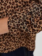 Bild von Blusenshirt aus Seide mit Leo-Print