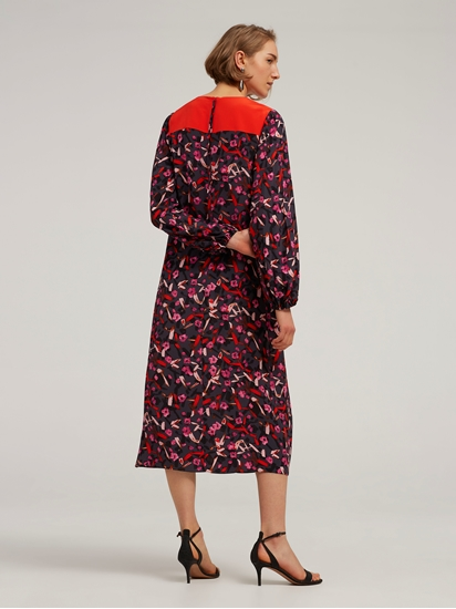 Bild von Kleid in A-Linie mit Flower-Print