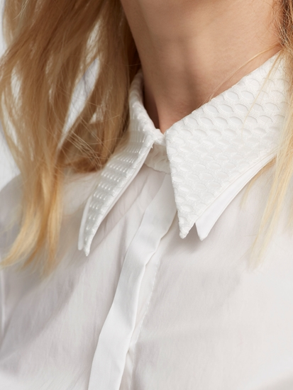 Bild von Hemdbluse mit doppeltem Kragen
