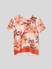 Image sur Shirt en soie avec imprimé floral