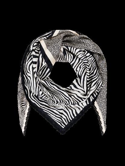 Bild von Foulard aus Seide mit Animal-Print