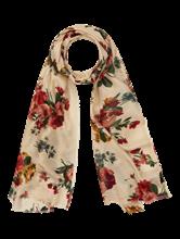 Bild von Schal mit Blumen-Print und Lurex