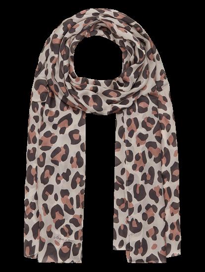 Image sur Echarpe soie imprimé léopard